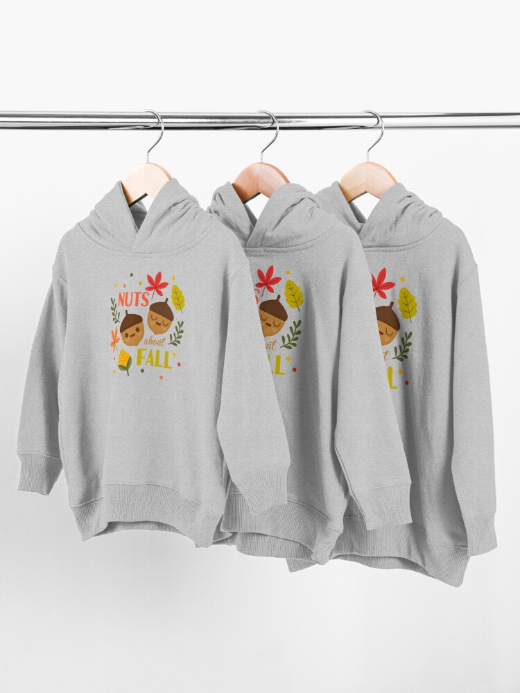Alternate view of Nuts about Fall Toddler Pullover Hoodie