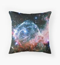 Thor's Helmet Nebula [Red and Blue] Throw Pillow