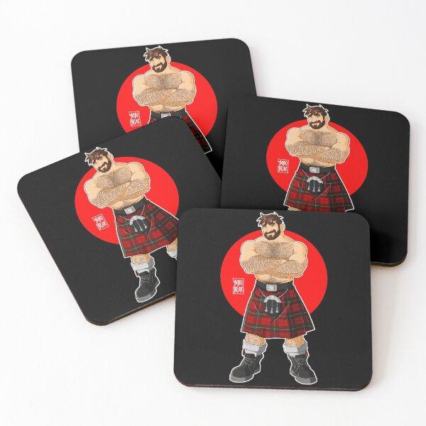 ADAM LIKES KILTS - SHIRTLESS Coasters (Set of 4)