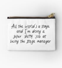 All The World's a Stage Zipper Pouch