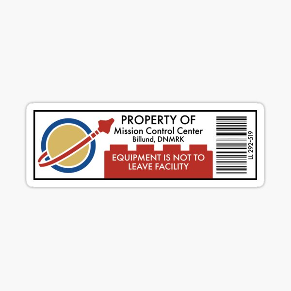 Classic Space Equipment Property Sticker Sticker