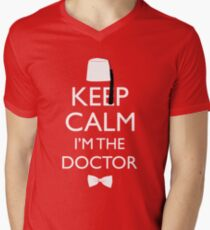 Keep Calm I'm The Doctor Men's V-Neck T-Shirt