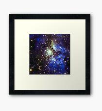 Kid Cudi Galaxy | Star Forming Region [Blue] [NGC-3603] Framed Print