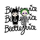 Bettlejuice and Lydia Cartoon Style by leeseylee