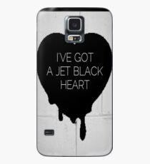 Jet Black Herz Hülle & Klebefolie für Samsung Galaxy
