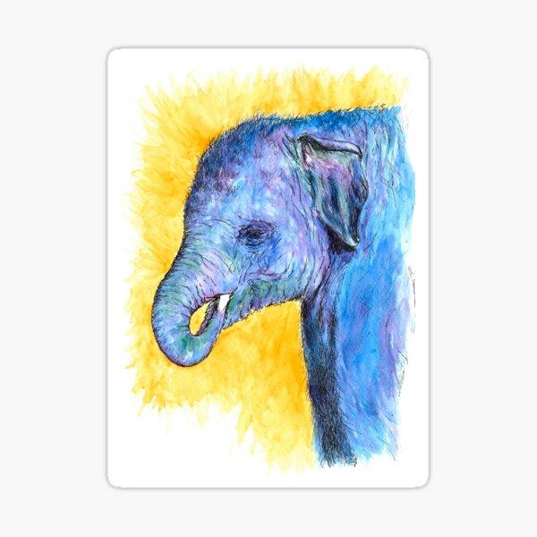 Technicolour Elephant Sticker