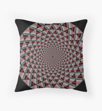 Stoic Flower - Red Grey Throw Pillow