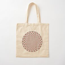 Stoic Flower - Red Grey Cotton Tote Bag