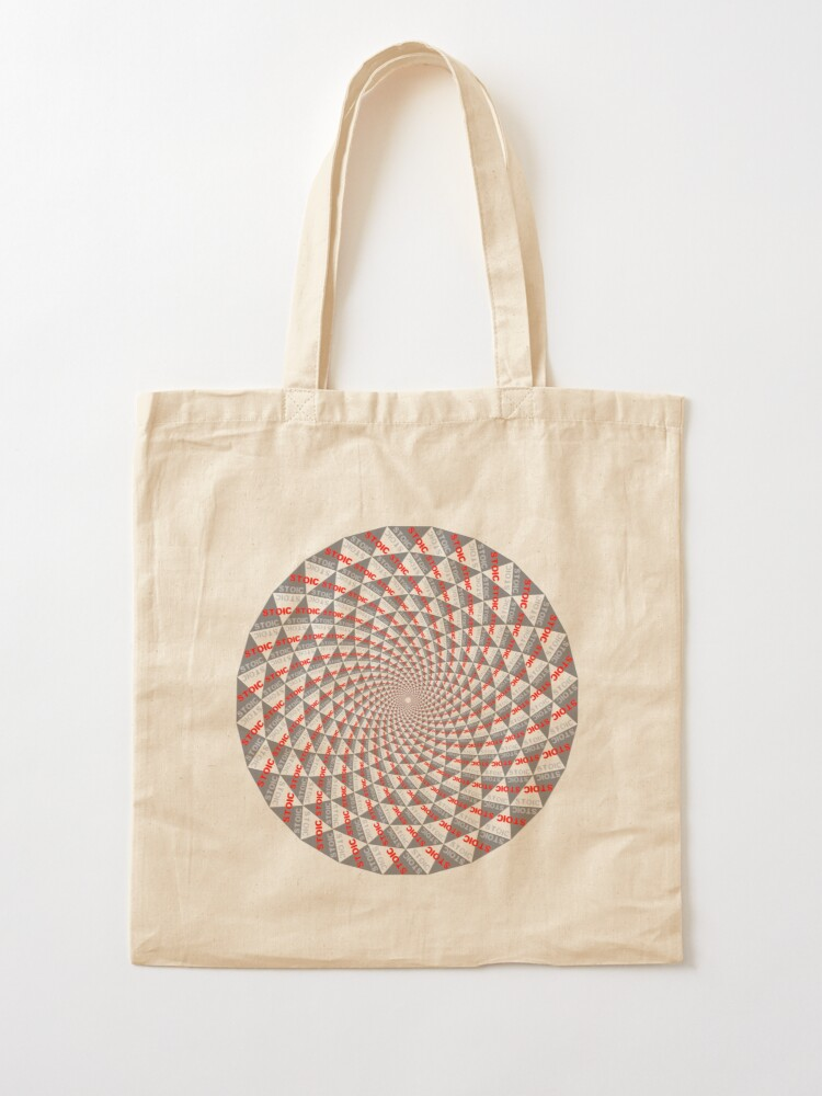 Alternate view of Stoic Flower - Red Grey Tote Bag