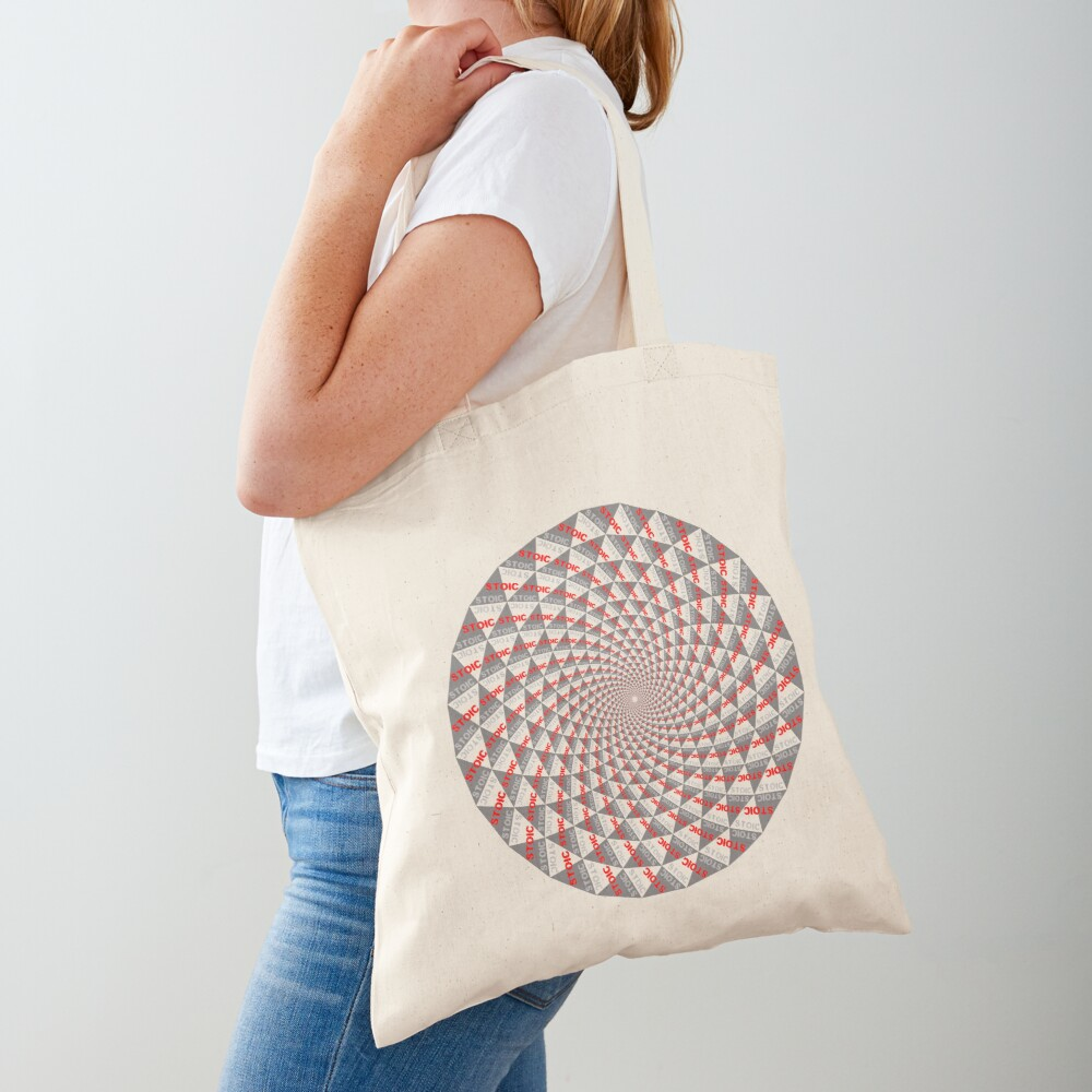 Stoic Flower - Red Grey Tote Bag