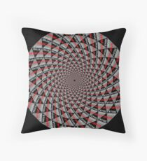 Stoic Flower - Red Grey Floor Pillow