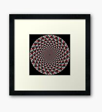 Stoic Flower - Red Grey Framed Print