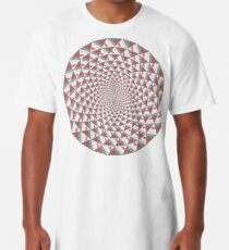 Stoic Flower - Red Grey Long T-Shirt