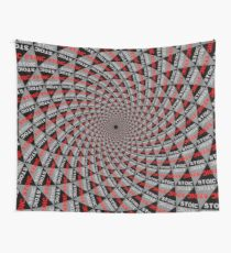 Stoic Flower - Red Grey Wall Tapestry