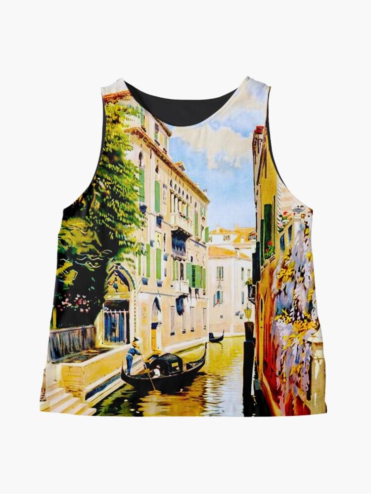 Alternative Ansicht von Venedig-Kanäle; Vintage Reise Werbung drucken Ärmelloses Top