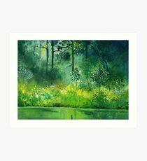 Light n Greens Art Print