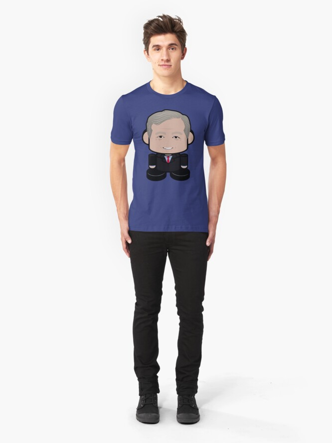Alternate view of Steyo'bot POLITICO'BOT Toy Robot Slim Fit T-Shirt