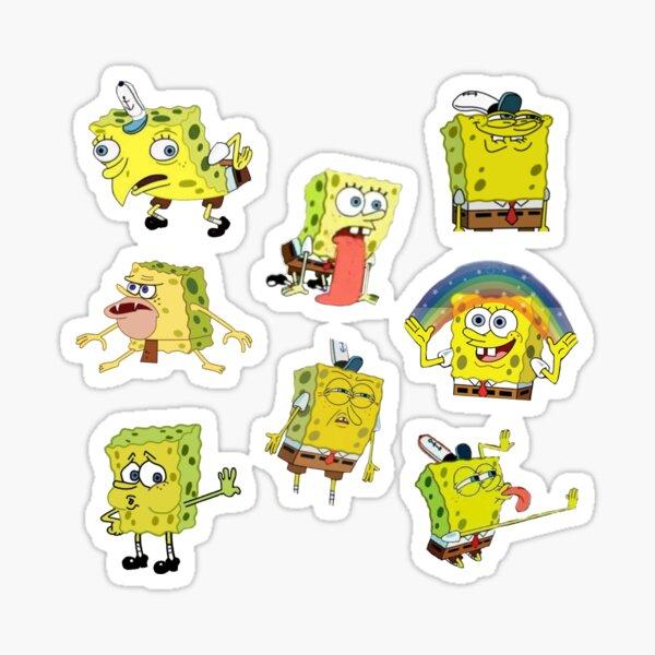 spongebob meme sticker set Sticker
