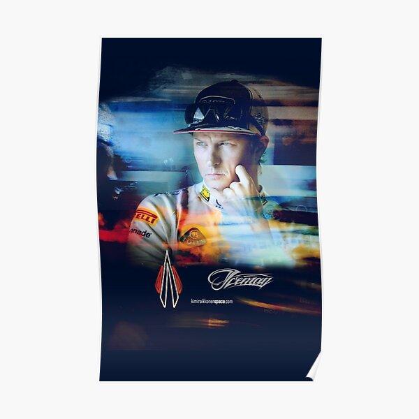 Iceman Stare - Kimi Raikkonen Poster