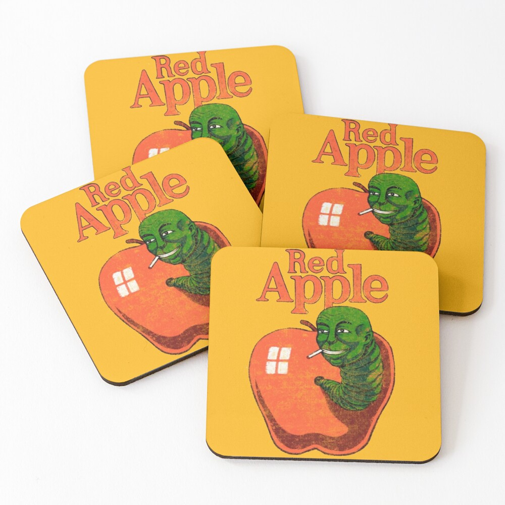 red apple cigarettes (Brand from Tarantino's movies) Coasters (Set of 4)