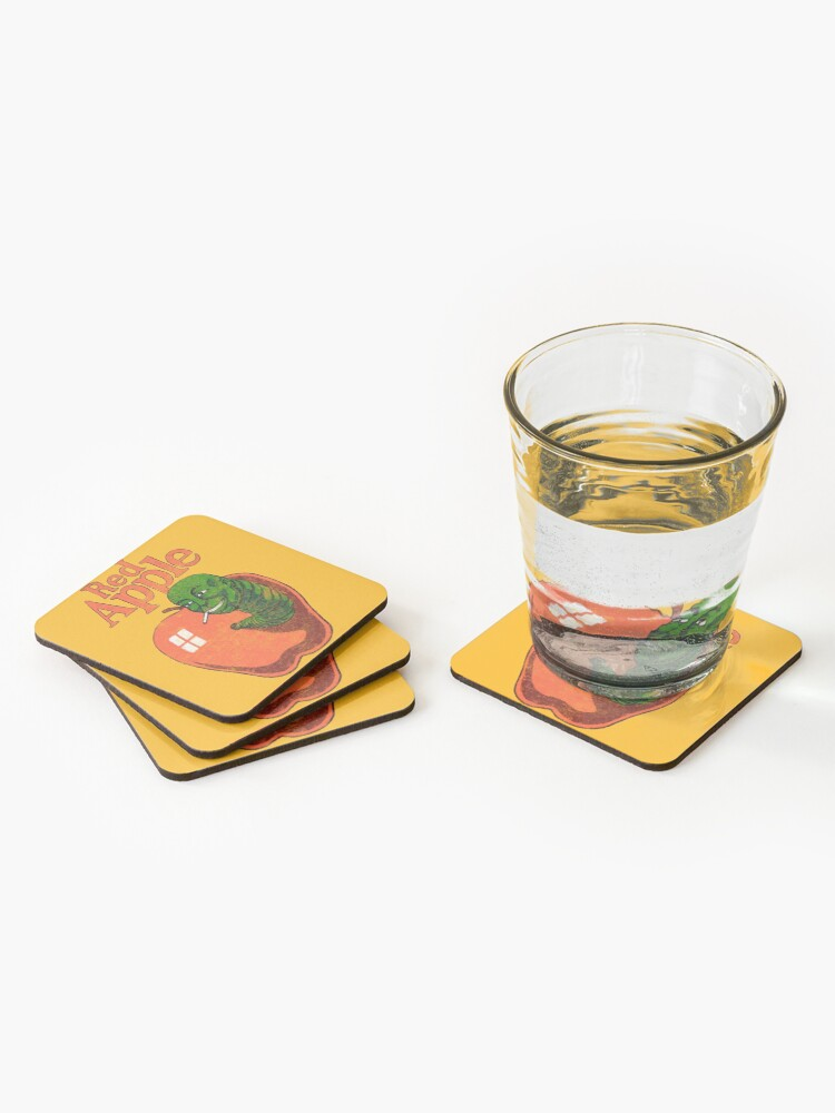 Alternate view of red apple cigarettes (Brand from Tarantino's movies) Coasters (Set of 4)