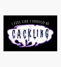 Cackling  Photographic Print