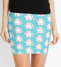 "Meditating ""F**K YOU"" Cat Mini Skirt"