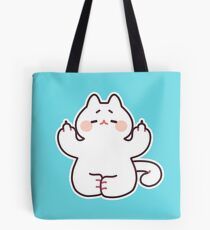 """Meditating """"F**K YOU"""" Cat Tote Bag"""