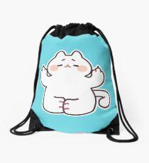 """Meditating """"F**K YOU"""" Cat Drawstring Bag"""
