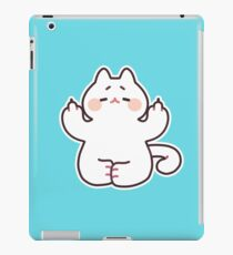"Meditating ""F**K YOU"" Cat iPad Case/Skin"