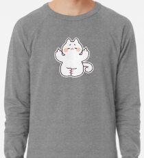 "Meditating ""F**K YOU"" Cat Lightweight Sweatshirt"