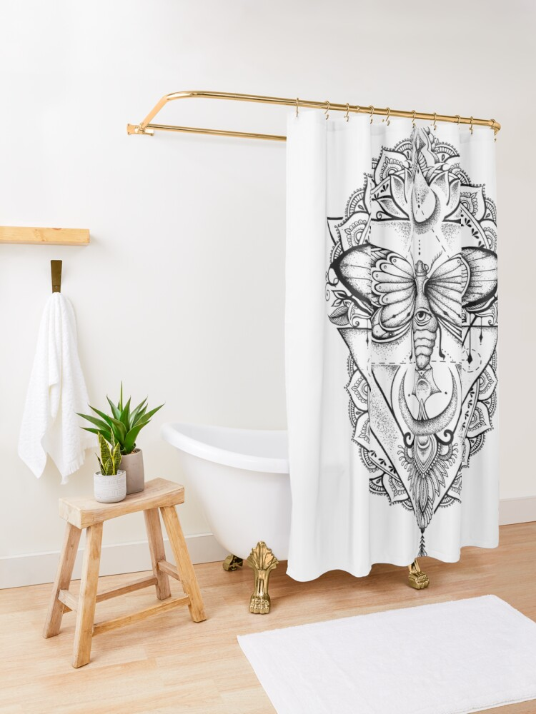 Alternate view of Fly With Me ! Shower Curtain