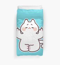 "Meditating ""F**K YOU"" Cat Duvet Cover"