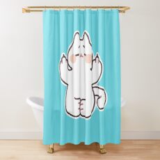 "Meditating ""F**K YOU"" Cat Shower Curtain"