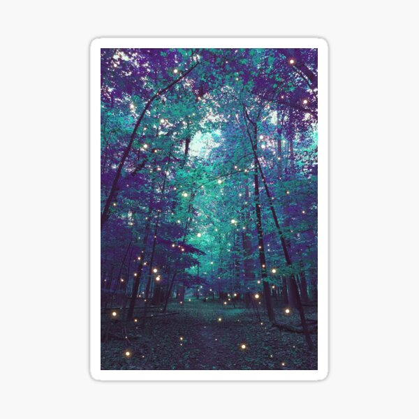 enchanted forest II Sticker