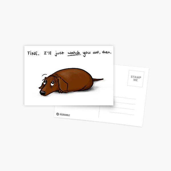 The Look w/ text Postcard