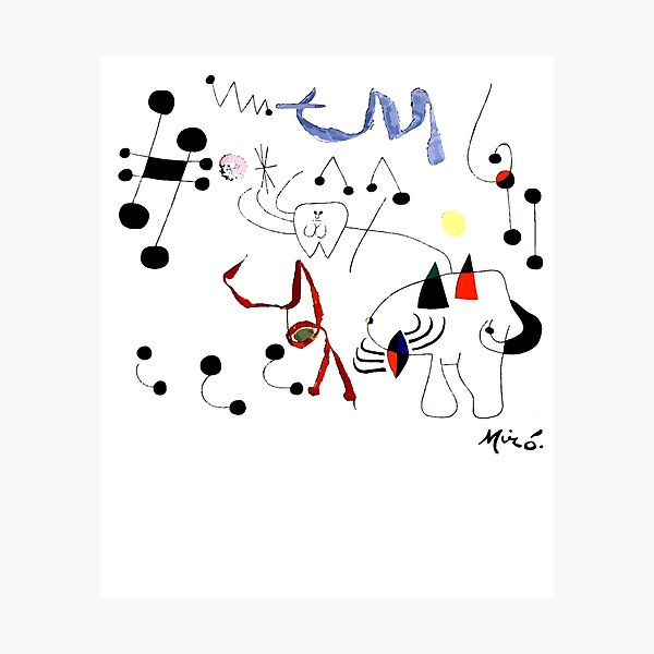 Joan Miro Woman Dreaming Of Escape T Shirt, 1945 Artwork Photographic Print