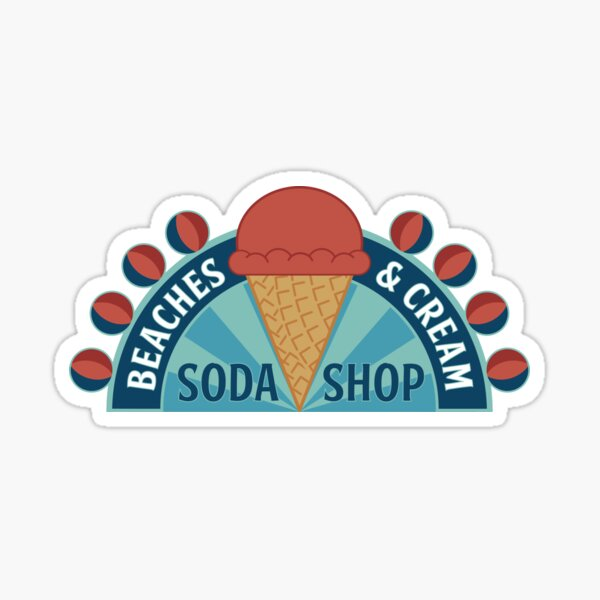 Beaches and Cream Sticker