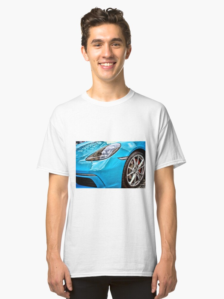 Alternate view of Blue Porsche Sports Car Front Classic T-Shirt