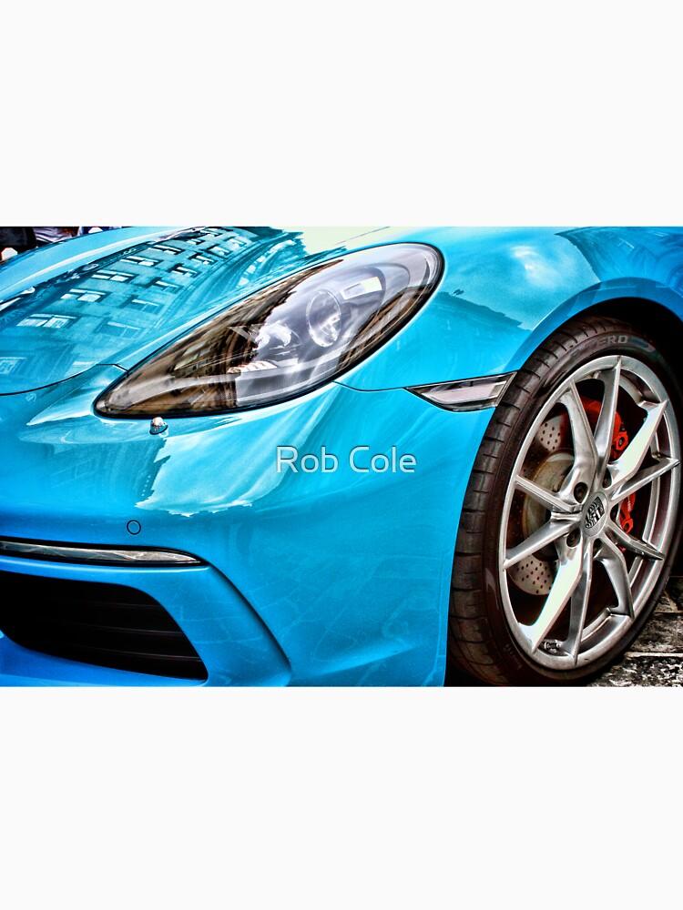 Blue Porsche Sports Car Front by robcole