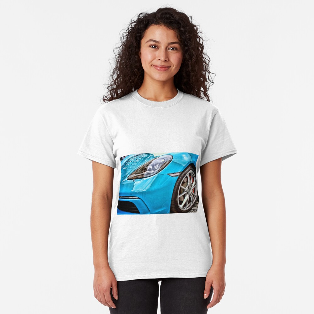 Blue Porsche Sports Car Front Classic T-Shirt