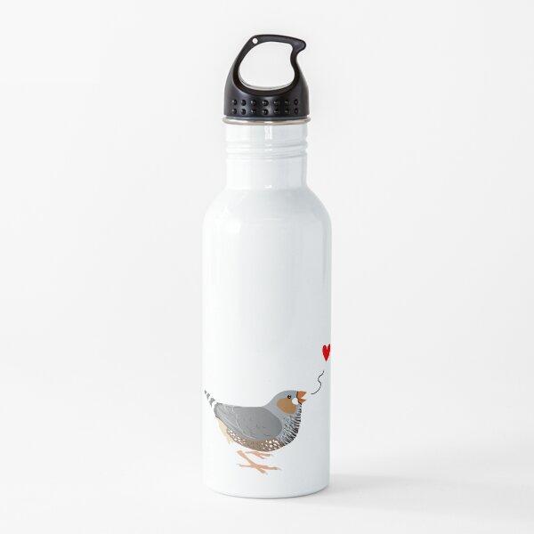 Zebra Finch Love Water Bottle