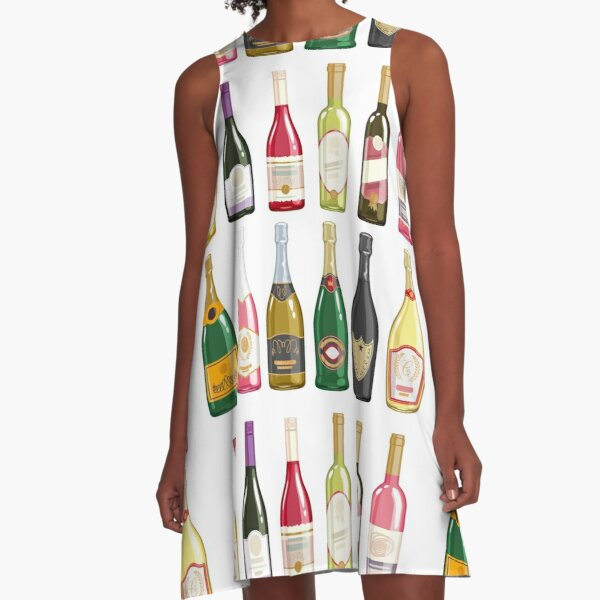 Wine bottles A-Line Dress