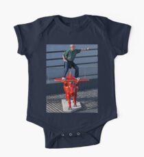 Amelia Air Cow - with passenger Short Sleeve Baby One-Piece