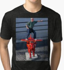 Amelia Air Cow - with passenger Tri-blend T-Shirt