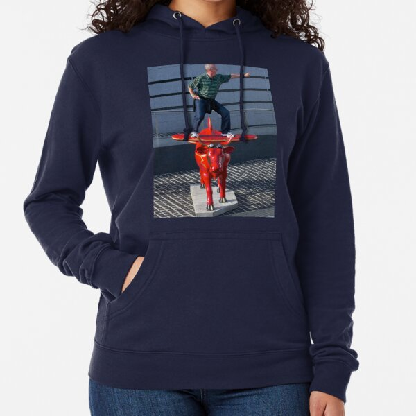 Amelia Air Cow - with passenger Lightweight Hoodie
