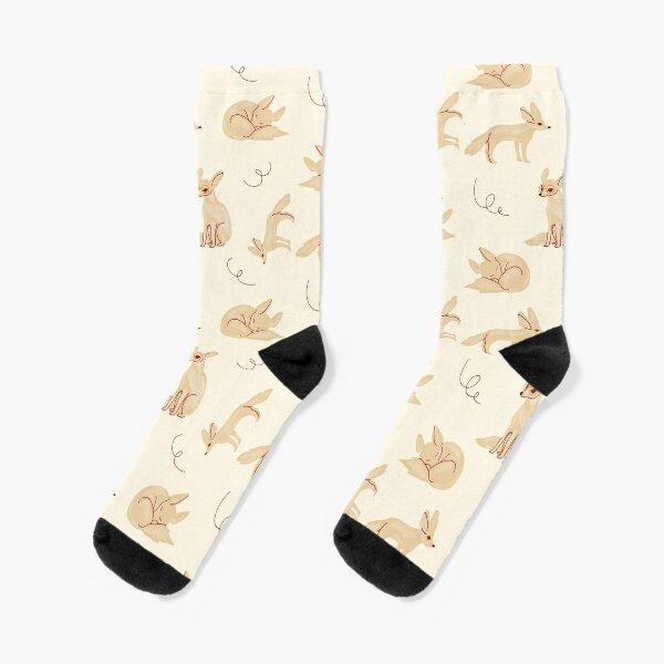 Socks summer cartoon bird desert