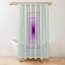 Purple Spiral Shower Curtain