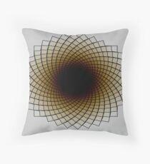 Sunflower Spiral Throw Pillow