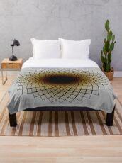 Sunflower Spiral Throw Blanket